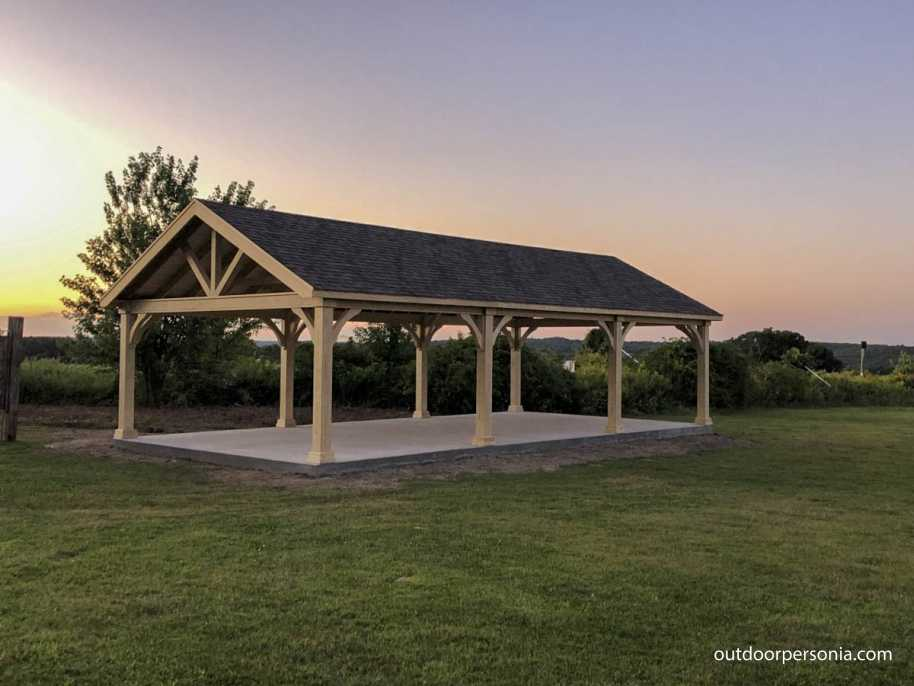 Custom pavilion for a soccer field