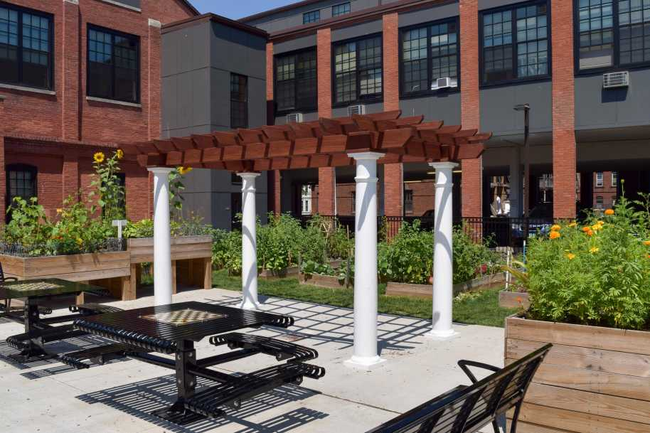 Custom pergola in Boston MA