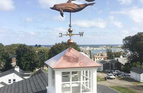 A custom Zephyr Cupola with a weathervane on top.