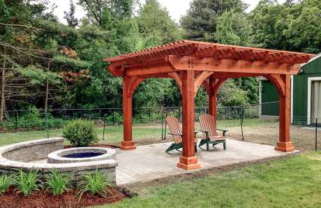 A Custom Swan Pergola in Norfolk, MA