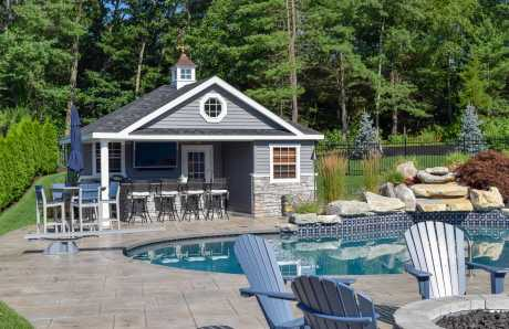 Custom Pool House in Wrentham, Massachusetts