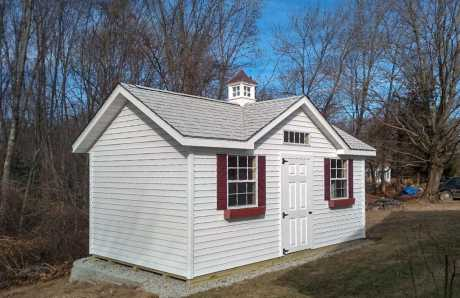 A Custom 10 x 18 Cape Cod Sudbury Shed with a Cupola