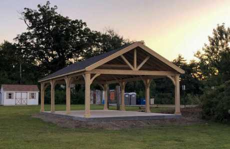 custom pavilion for soccer field