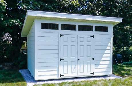 8 by 12 custom shed with james hardy siding