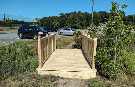 12 ft custom foot bridge near Duxbury, MA