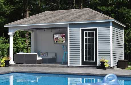 A Swan Custom Pool House in Hanson, MA