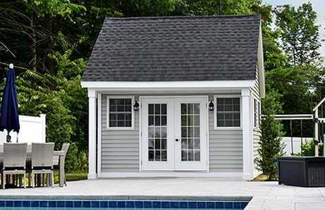 Swan Custom Pool House in Hanover, MA