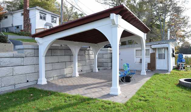 "Beverly Classic Lean-to Pavilion - ""There is beauty in simplicity"" with the Beverly Classic Lean-to Pavilion. Perfect for any backyard or park."