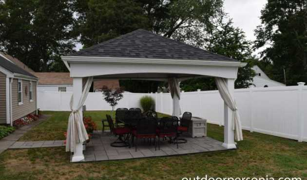 Beverly Traditional Pavilion - Featuring simple lines, the Beverly Traditional Pavilion works perfectly in any backyard.