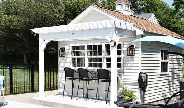 Cape Cod Pool House - The Cape Cod Pool House adds New England charm and elegance to your backyard pool.