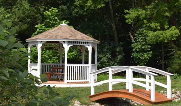 Mansfield Octagon Gazebo - This gazebo features the traditional gazebo style that everyone envisions in their backyard.