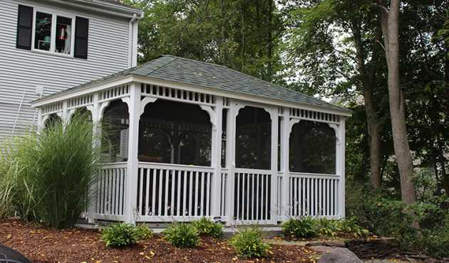 Mansfield Rectangle Gazebo - The Mansfield Rectangle Gazebo is perfectly designed for any gathering large or small.