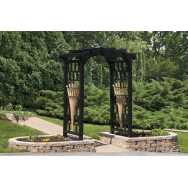 "48"" Sum Breeze Round Top Poly Arbor"