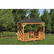 Gazebo Glider with Hip Roof