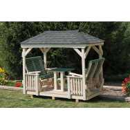 Poly Gazebo Glider with Hip Roof