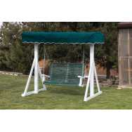 Poly A-frame with Green Canopy and Swing
