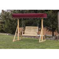 Wooden A-frame with Swing