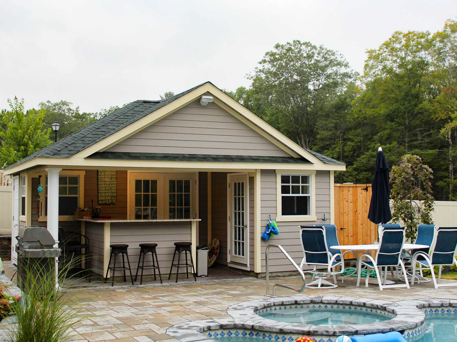 pool houses baystate outdoor personia. Black Bedroom Furniture Sets. Home Design Ideas