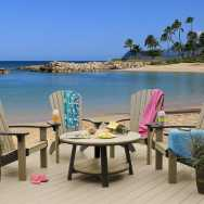 Seabrez Adirondack Chairs And Circle Table