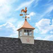 Star With Letter R On A Cupola