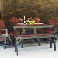 Aurora Rectangle Table And Four Chairs