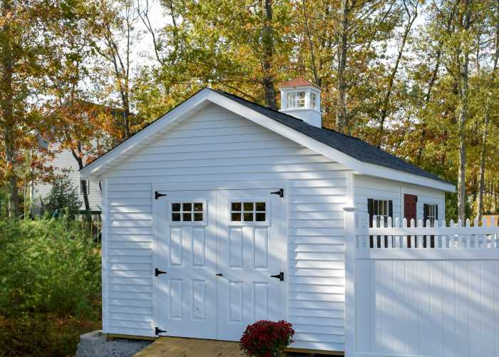 Custom Vinyl Shed in Bellingham, Massachusetts