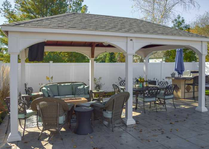 Custom Vinyl Pavilion in Pembroke, Massachusetts