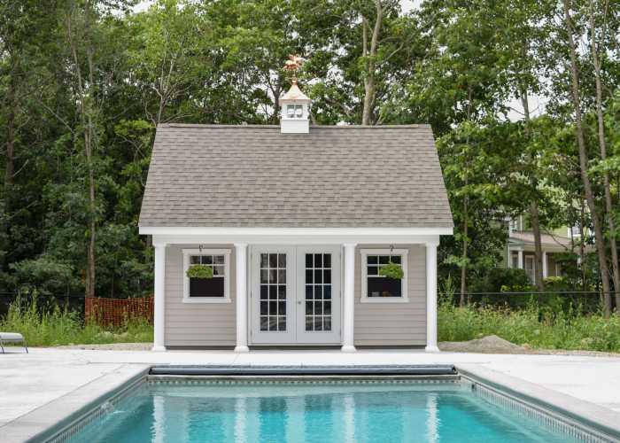 custom pool house in Hingham, MA
