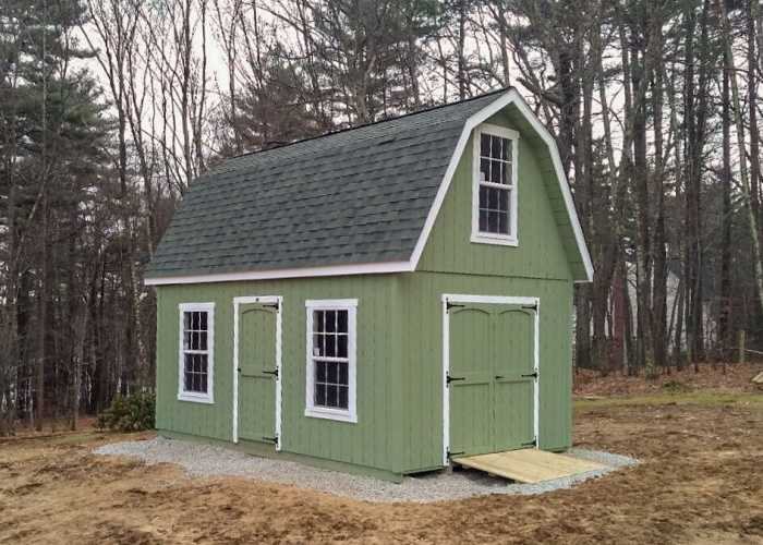 A 12 x 18 2-Story Patriot Shed in Hopkinton, Massachusetts