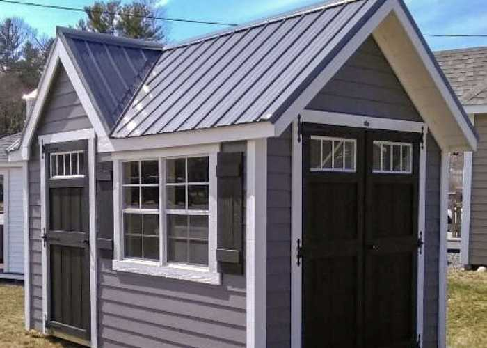 Prebuilt A-frame shed in Wellesley, MA