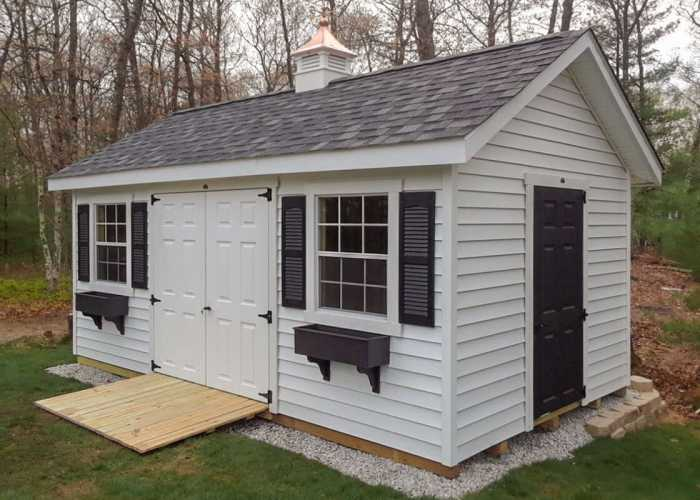Custom 10x18 Storage Shed and Cupola in Bellingham, MA