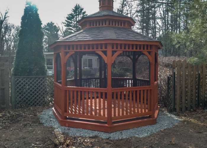 A New 12 Foot Wooden Octagonal Gazebo by Baystate Outdoor Personia
