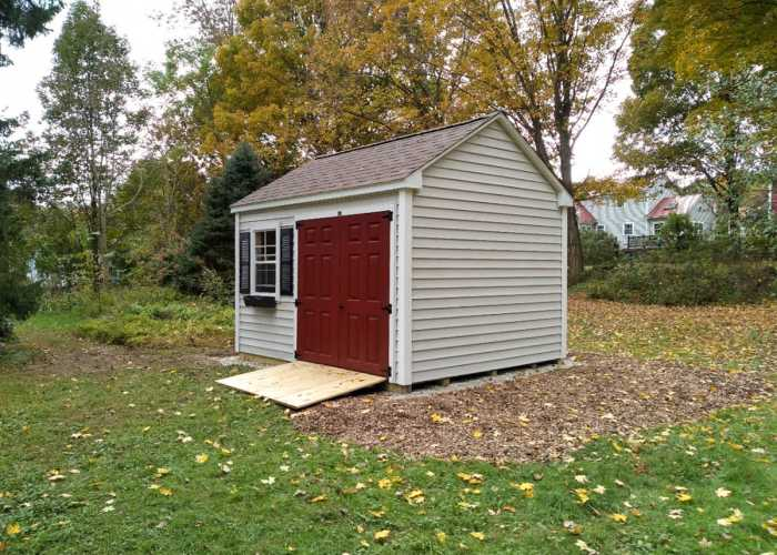 A 10 x12 Pilgrim Sudbury Shed Built on Site in Wrentham, MA