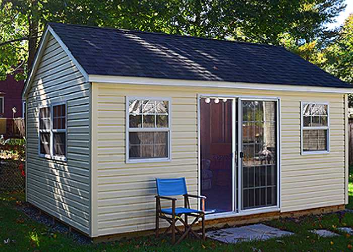 A 12x18 Custom Trestle She-Shed in Stoughton, MA