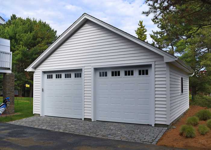 Trestle Custom 24x24 Garage in Lincoln, RI