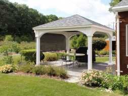 Pavilion adds value and beauty to any backyard patio.
