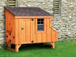 Chicken Coop is small and designed to fit almost anywhere, and house a few hens.