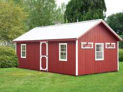 This very large chicken coop has enough room for all your chickens plus room for supplies, and is built to last.