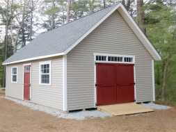 This backyard storage shed is very large it is big enough for everything you need to store plus any projects you need to work on.