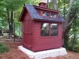 This small storage shed is custom designed to exactly what the custom wanted.