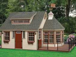 This shed features custom design, it is built to the customer satisfaction.
