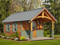 This shed is personalized to customers needs, makes a impressive backyard structure.