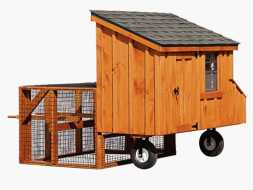 This chicken coop has portability and durable design making cleaning and chores easy.