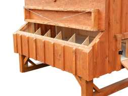 Chicken Coop is built with 6 nesting boxes giving plenty of room for small to medium size flocks.