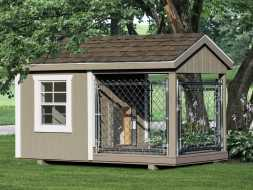 This dog kennel is built to look good in your back yard and made to last a lifetime.