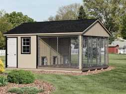 Dog Kennel with 3 runs, for smaller dogs, custom built and personalized to customer satisfaction.