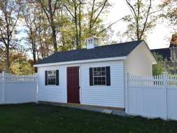 This backyard has everything you need in a shed, lots of room materials will last a lifetime and looks good doing it.