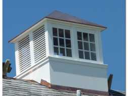 Personalized cupola with windows and louvers built to customer satisfaction.
