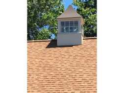 Garage cupola featuring copper roof and 8 pane windows and standard base.