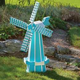 blue and white poly windmill for your backyard